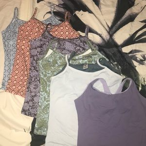 Lot of 6 size Small Prana workout tops / tanks